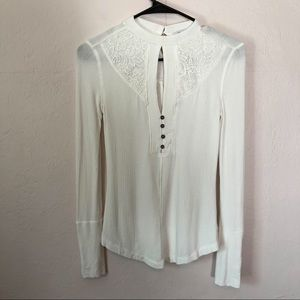 William Rast Lace Detail Top